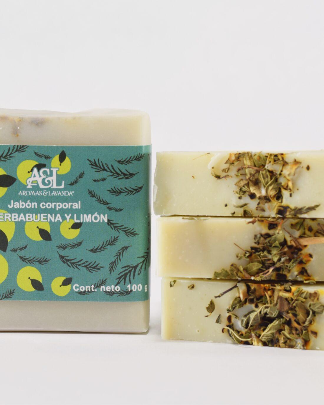 Jabón artesanal de hierbabuena con limón refrescante